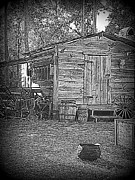 Shed Digital Art Posters - Pioneer Tool Shed Poster by Sheri McLeroy