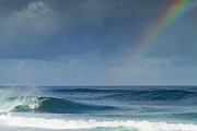 Waves Energy Prints - Pipe at the end of the rainbow Print by Sean Davey