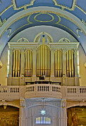 Christian Sacred Metal Prints - Pipe Organ At Saint Michaels Metal Print by Susan Candelario