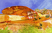 Piper Cub Prints - Piper Cub #3 Print by Catherine Harms