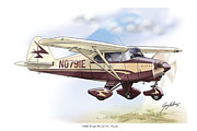 Piper Framed Prints - Piper PA22 Tri-pacer Framed Print by Greg Eilers