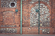 Sewage Framed Prints - Pipes and wall Framed Print by Tom Gowanlock