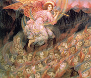 Flute Player Prints - Piping to the Souls in Hell Print by Evelyn de Morgan