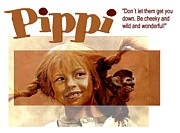 Ape Mixed Media Posters - Pippi Longstocking - quote Poster by Richard Tito
