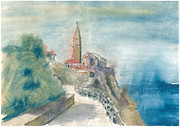 St Piran Prints - Piran - St. George Church Print by Marko Jezernik