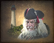 Buccaneer Photo Posters - Pirate Captain Poster by Gallery Three