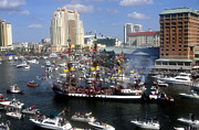 Pirate Ship Prints - Pirate Invasion Tampa Bay  Print by David Lee Thompson