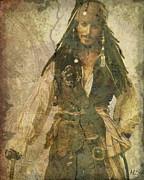Captain Jack Sparrow Prints - Pirate Johnny Depp - Steampunk Print by Absinthe Art By Michelle LeAnn Scott