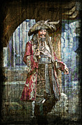 Pirate Keith Richards - Steampunk Print by Absinthe Art By Michelle LeAnn Scott