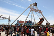 Pirate Ship Photo Posters - Pirate Ship At The Santa Cruz Beach Boardwalk California 5D23854 Poster by Wingsdomain Art and Photography