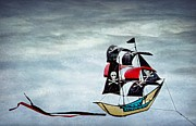 Peggy J Hughes Prints - Pirate Ship Print by Peggy J Hughes