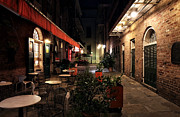 Tables Framed Prints - Pirates Alley at Night Framed Print by John Rizzuto