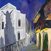 Pirates Originals - Pirates Alley French Quarter Painting  by Kerin Beard