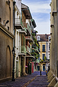Cobblestone Prints - Pirates Alley Print by Heather Applegate