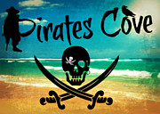 Pirates Mixed Media Prints - Pirates Cove Print by Mindy Bench
