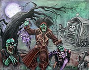 Graveyard Paintings - Pirates Graveyard 2 by Laura Barbosa