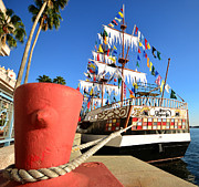 Pirate Ship Photo Prints - Pirates in harbor Print by David Lee Thompson