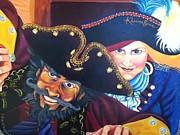 Pirate Ships Paintings - Pirates by Sherri Carroll