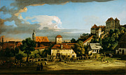 Gold Foil Paintings - Pirna  The Obertor from the South 1753 1756 or the late 1760s by MotionAge Art and Design - Ahmet Asar