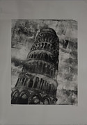 White  Reliefs Posters - Pisa Poster by Sean Ward