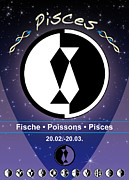 Sign Of Zodiac Digital Art - Pisces by Fabian Roessler