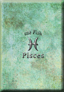 Zodiac Digital Art - Pisces Feb 19 to March 20 by Fran Riley