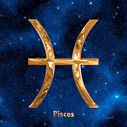 Pisces Digital Art - Pisces by Marsha Charlebois