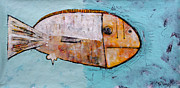 Fish Mixed Media Metal Prints - Piscis 1 Metal Print by Mark M  Mellon