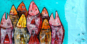 Fish Mixed Media Metal Prints - Piscis 2 Metal Print by Mark M  Mellon