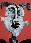 Face Mixed Media Prints - Piscis no 7 Print by Mark M  Mellon