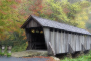 Pisgah Covered Bridge Print by Karol  Livote