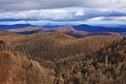 Pisgah Photographs Posters - Pisgah Mountains Range from the Blue Ridge Poster by Michael Weeks