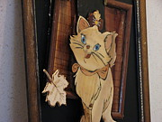 Cat Sculpture Framed Prints - Pishi Framed Print by Ahmad Motavalian