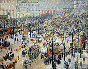 Pissarro Prints - Pissarros Boulevard Des Italiens In Morning Sunlight Print by Cora Wandel