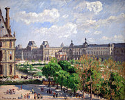 Pissarro Prints - Pissarros Place Du Carrousel In Paris Print by Cora Wandel