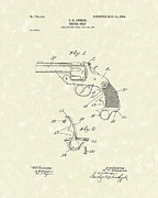 Pistol Drawings Posters - Pistol Grip 1904 Patent Art Poster by Prior Art Design