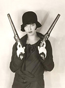1920 Digital Art Metal Prints - Pistol Packing Mama Metal Print by Bill Cannon