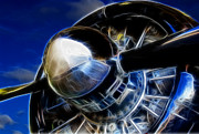Plane Radial Engine Prints - Pistons Firing Print by Ricky Barnard