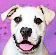 Bull Prints - Pit Bull Art - Im Game Print by Sharon Cummings