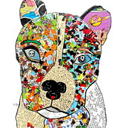 Canine Posters Mixed Media - Pit Bull  by Brian Buckley