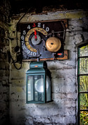 Coal Metal Prints - Pit Lift Control Metal Print by Adrian Evans