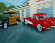 Antiques Paintings - Pit Stop by Anthony Dunphy