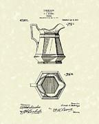 Pitcher 1915 Patent Art Print by Prior Art Design