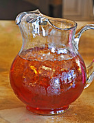Pitcher Of Iced Tea Print by Valerie Garner