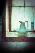 Old Pitcher Posters - Pitcher on Windowsill Poster by Jill Battaglia