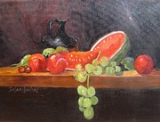 Barbara Haviland - Pitcher Watermelon Plums...