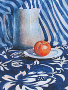 Still Life With Pitcher Framed Prints - Pitcher with Fruit Framed Print by Daydre Hamilton