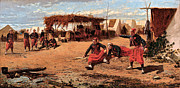 Zouaves Framed Prints - Pitching Quoits Framed Print by Winslow Homer