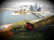 Monongahela Duquesne Incline Prints - Pittsburgh 7 - Three Rivers from the Duquesne Incline Print by Ami Fazchas