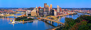 Monongahela River Framed Prints - Pittsburgh and the Ducky  Framed Print by Emmanuel Panagiotakis
